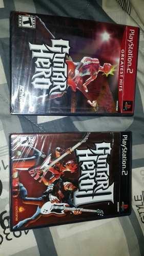Juegos ps2 original guitar hero 1 y 2 nuevos sellados!