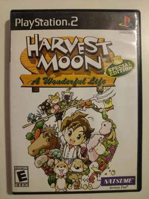 Playstation 2: harvest moon disco fisico sin manual