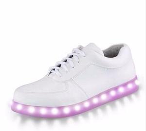 Zapatillas led mujer y niños + juego de luces + usb