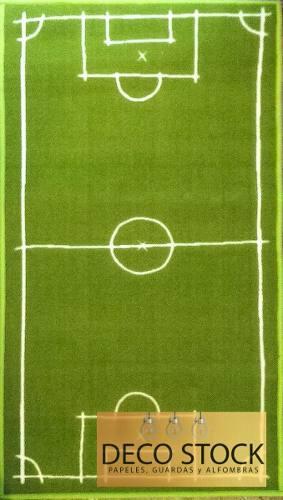 Alfombra carpeta infantil cancha de futbol 1,20 x 0,67 mts
