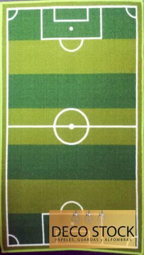 Alfombra carpeta infantil cancha de futbol 1,40 x 2,00 mts
