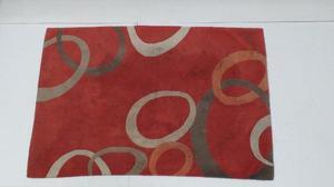 Alfombra / carpeta mihran popy new rings red 235x160 cm