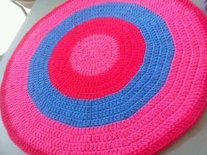 Alfombras redondas tejidas en crochet 1.80 cm