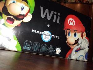 Nintendo wii mario kart edition (muy poco uso)