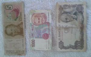 Lote de 9 billetes antiguos
