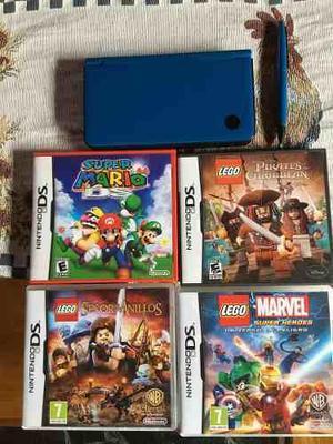 Nintendo Dsi Xl Azul Impecable 5 Juegos Originales En Lujan De