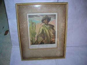 Chango lamina enmarcada oleo francisco ramoneda firmada