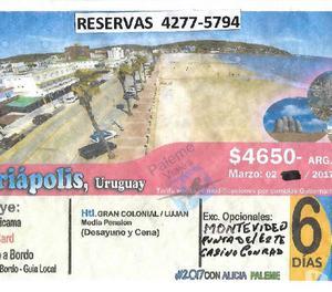 Piriapolis uruguay, 6 dias 4 noches