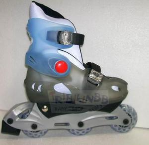Patines rollers talle s del 30 al 33 extensibles gris roller