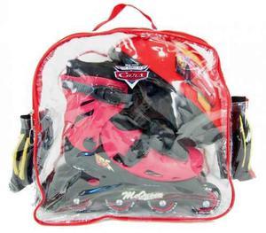 Rollers extensibles mochila protecc casco cars disney