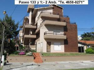 VILLA GESELL PASEO 133 y Av. 1:- 2 AMBIENTES 4 PLAZAS PARQUE