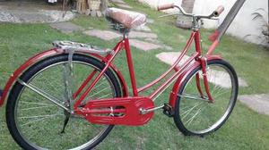 Bicicleta inglesa roja restaurada rod 26