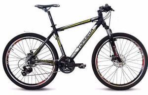 Bicicleta tourney mountain 26 aluminio suspension