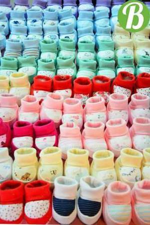 Escarpines de algodon por mayor. pack de 10 unidades.