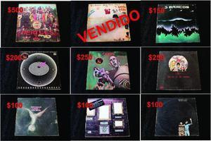 Colección de viejos discos de vinilo