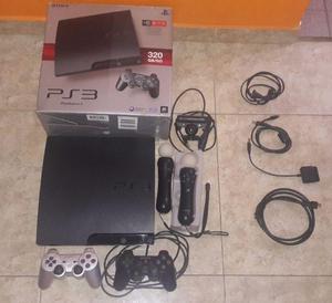 Playstation 3 de 320gb con 12 juegos,2 joystick y mas...