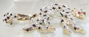 Retro broche prendedor + anillo puma simil cartier unico!
