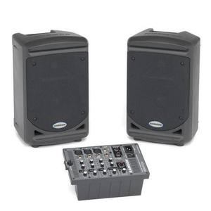 Sistema de sonido portatil samson xp150 2 bafles 150w 4ch
