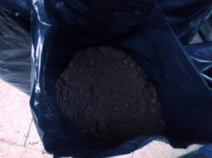 Tierra negra tamizada en bolsas