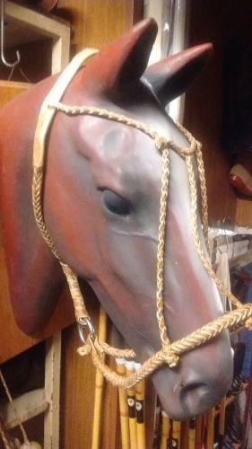 Bozal polero trenzado de cuero para caballo recado apero