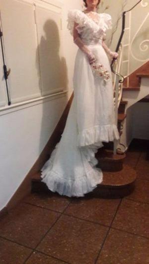 Hermoso vestido de novia blanco impecable