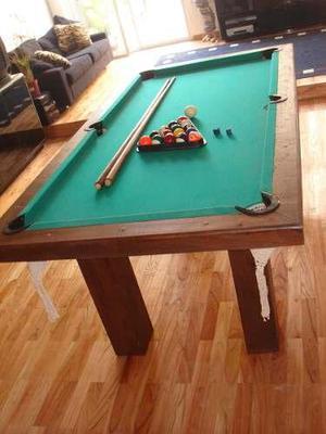 Mesa de pool madera maciza