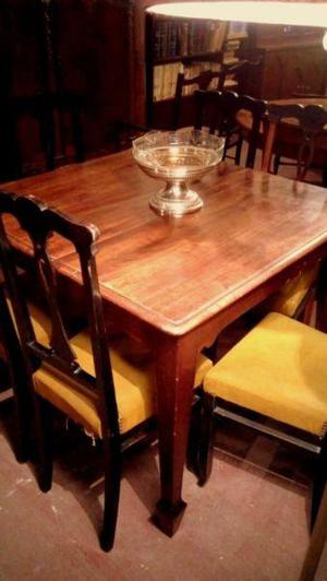Juego mesa extensible sillas clasf for Juego de comedor 6 sillas