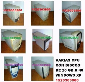 Varias cpu s todas con sistema windows xp - todas