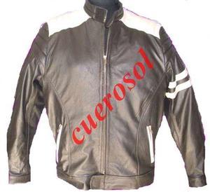 Campera de cuero para motociclista hombre o mujer fabrica