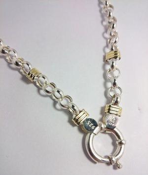 1bb4e2d5fd1a Cadena plata y oro hombre gruesa – Anillo diamante