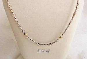 93e3e8f8555e Cadena plata y oro cordón nº 1 45 cm hombre   mujer (t) en Almagro ...