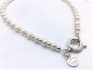 eca23fe44480 Collar de perlas cultivadas y plata 925 cierre importante ! en San ...