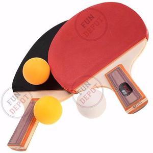 22c96f7050 Set ping pong kit 2 paletas madera 3 pelotitas tenis mesa