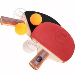 Tenis mesa set ping pong kit 2 paletas madera 3 pelotitas