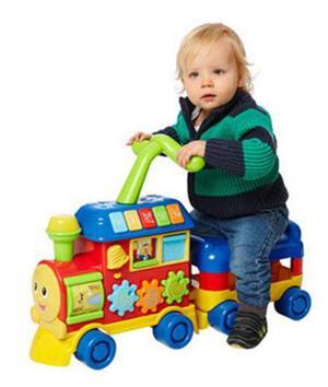 Caminador andador bebe tren musical luces winfun