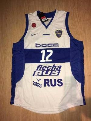 Camiseta basquet boca 2016 titular y suplente original 100%