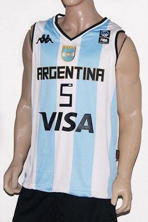 Camiseta basquet kappa argentina niños ginobili oferta