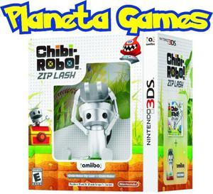 Chibi robo zip lash nintendo 3ds con amiibo caja cerrada