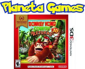Donkey kong country nintendo 3ds nuevos caja cerrada