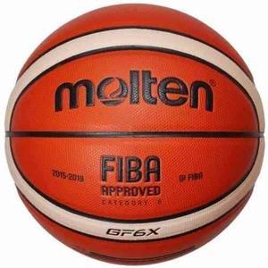 Pelota basket molten gf6x oficial femenino cuero n°6