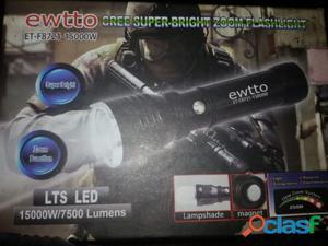 Linterna tactica led cree 7500 lumens recargable con zoom