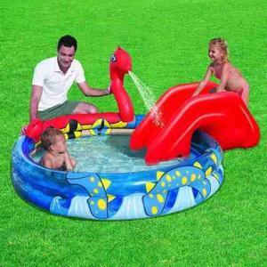 Pileta inflable tobogan lanza agua bebes bestway 53033