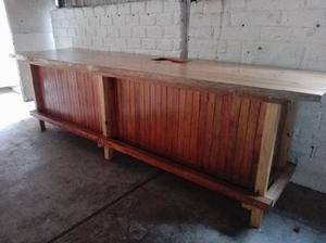 Barra tapa madera clasf for Bar de madera y fierro