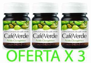 Cafe verde en cápsulas oferta por x 3 frascos
