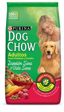 Dog chow adultos razas med y gdes 21kg envio gratis en caba