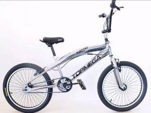 Bicicleta freestyle bmx top mega 20 rotor 48 rayos cromada