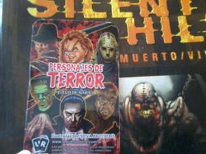 Cartas juegos clásicos del terror, cine, personajes, naipes