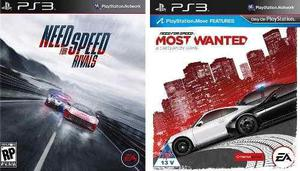 Combo need for speed rivals + need for speed most wanted ps3