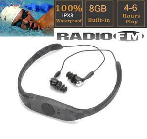 Reproductor vincha mp3 sumergible 8gb fm, pen drive