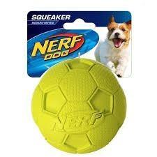 Juguete nerf dog. pelota de goma c/ sonido chifle. perro.m